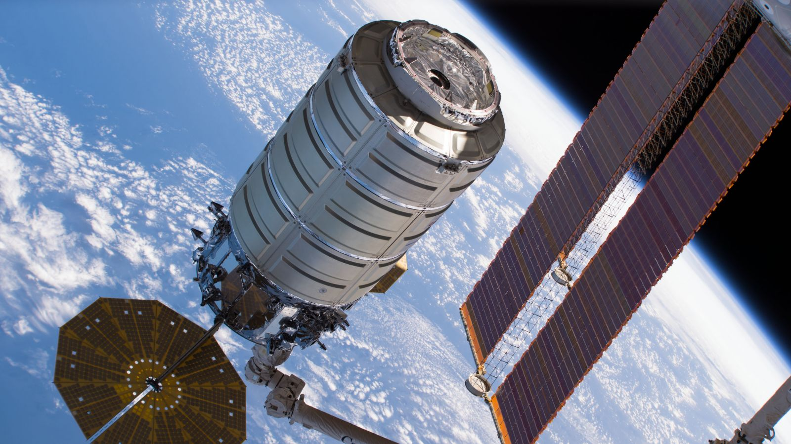 A file photo of a previous Cygnus being captured at the International Space Station. The NG-11 Cygnus arrived at the outpost on April 19, 2019. Photo Credit: NASA