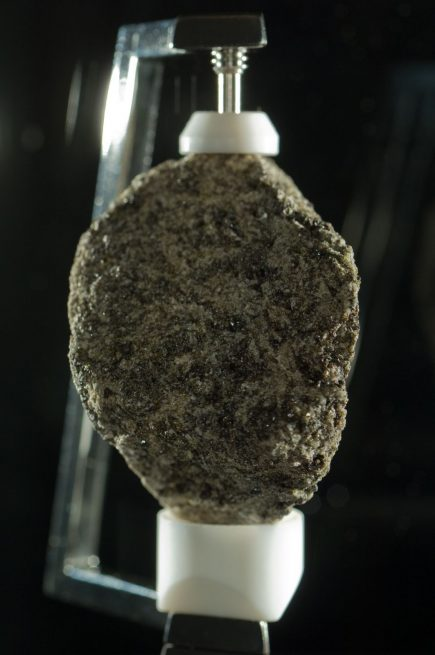 """The Great Scott"" sample, while not collected on Apollo 11, (it was gathered during the Apollo 15 mission in the summer of 1971) it is one of many examples of lunar regolith that journeyed from the Moon to Earth during the Apollo era. Photo Tom Story / Arizona State University"
