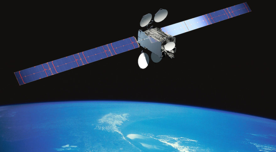 A rendering of the Intelsat 29e communications satellite in orbit. Image Credit: Intelsat