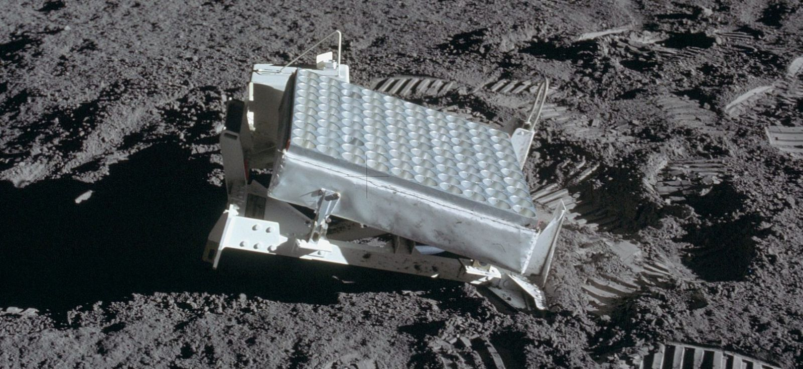 A Laser Ranging Retroreflector on the Moon. These experiments were used for decades after astronauts placed them there during the Apollo Program. Photo Credit: NASA