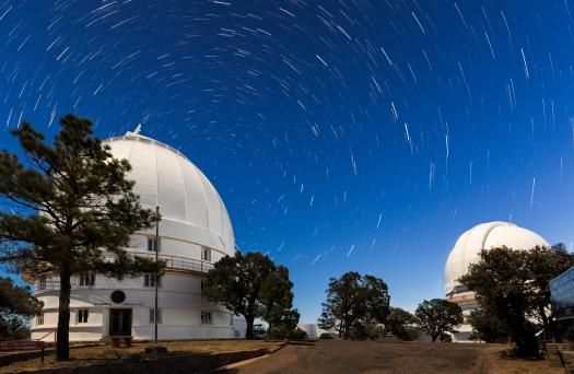 The Observatory's 107-inch telescope was used for many of the measurements. After 1985, the observations were made using a dedicated 30-inch telescope. Photo Credit: McDonald Observatory