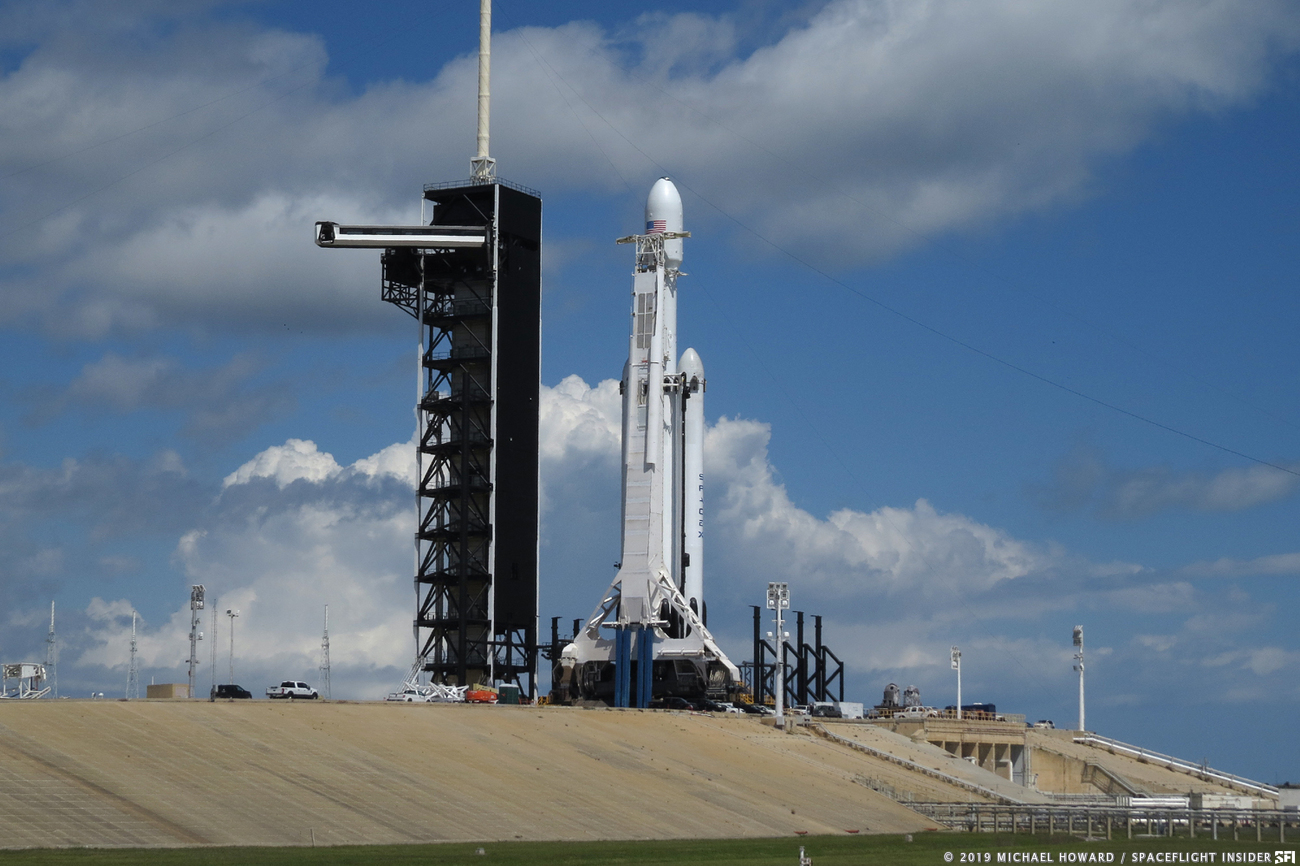 High winds ground Falcon Heavy - SpaceFlight Insider