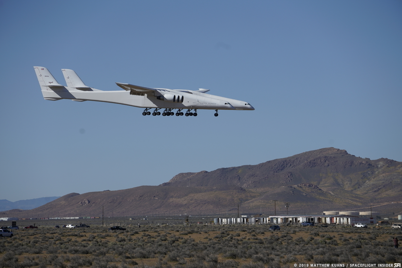 First flight of Stratolaunch photo credit Matthew Kuhns SpaceFlight Insider