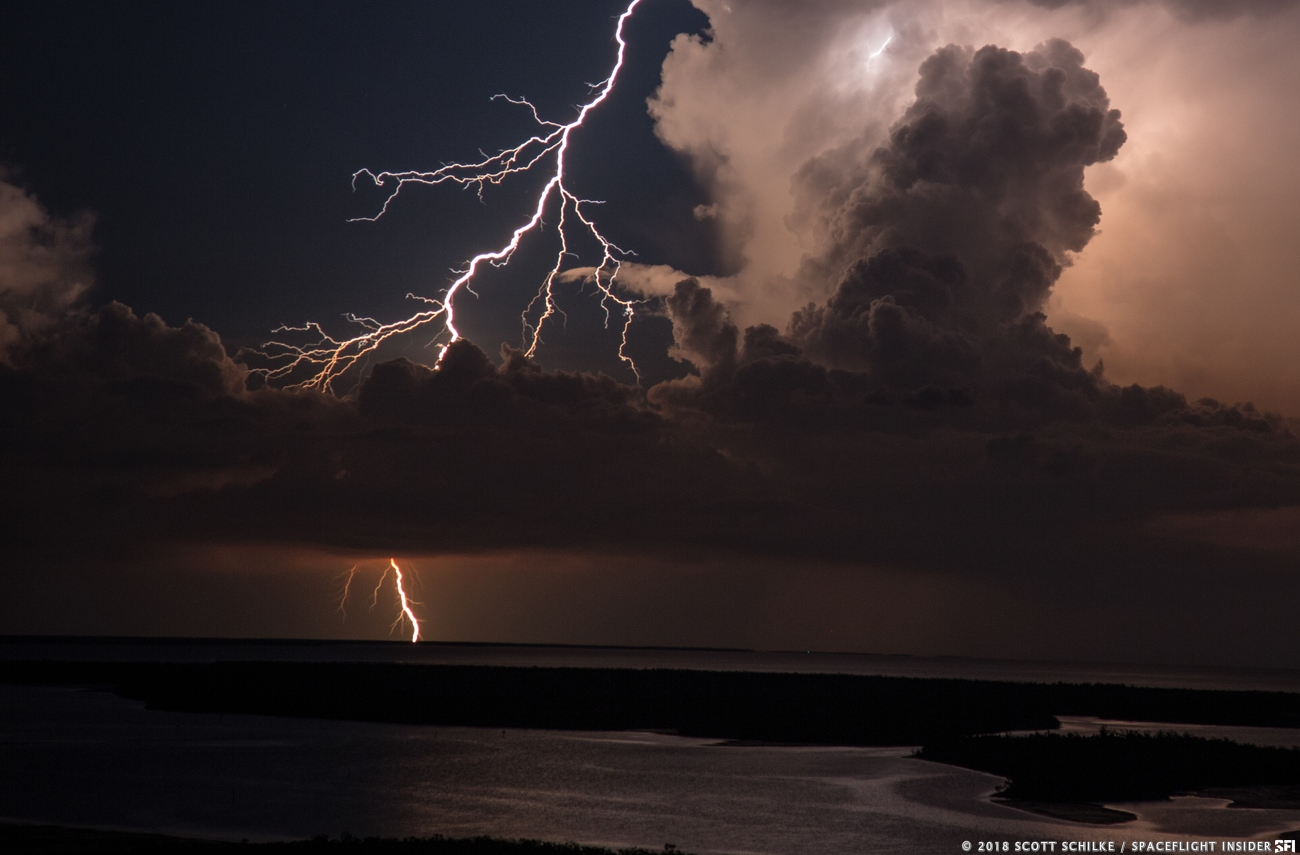 Thunderstorms are an almost daily occurrence along Florida's Space Coast during Spring and Summer. Photo Credit: Scott Schilke / SpaceFlight Insider
