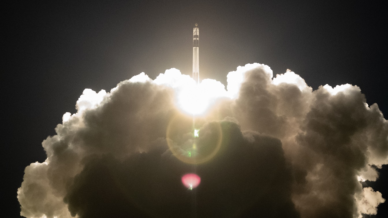 Electron launches on the STP-27RD mission at 6:00 UTC May 5, 2019. Photo Credit: Rocket Lab