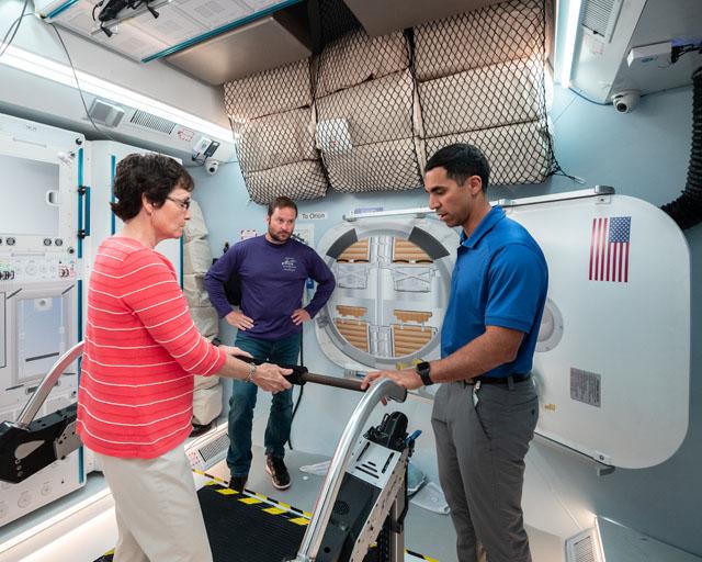NASA Astronauts test Northrop Grumman's deep space habitat prototype. Photo Credit: NASA
