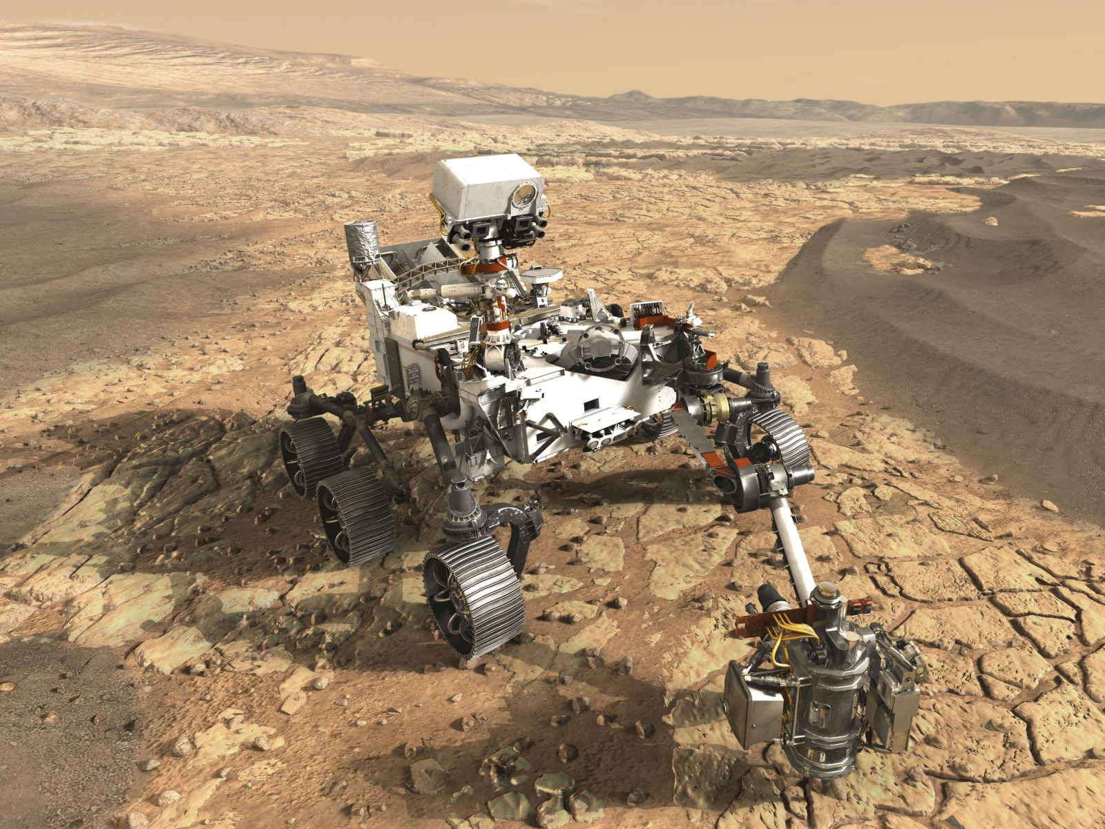 Artist's depiction of Mars 2020 rover. Image Credit: NASA