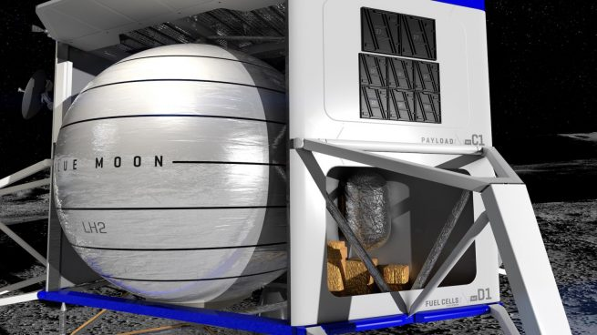 Blue Moon is being designed to supply plenty of power for its payloads, which can be mounted in multiple places around the platform. Image Credit: Blue Origin