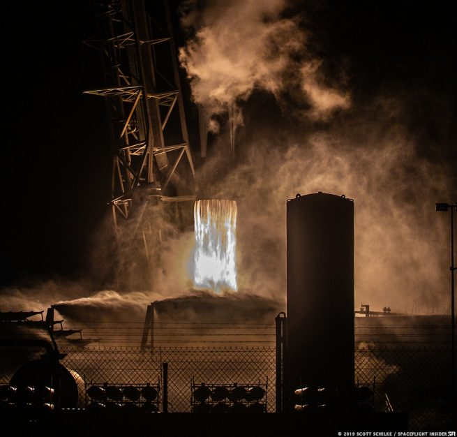 A SpaceX Falcon 9 rocket lifts off from Cape Canaveral Air Force Station's Space Launch Complex 40 in Florida on May 4, 2019. Photo Credit: Scott Schilke / SpaceFlight Insider