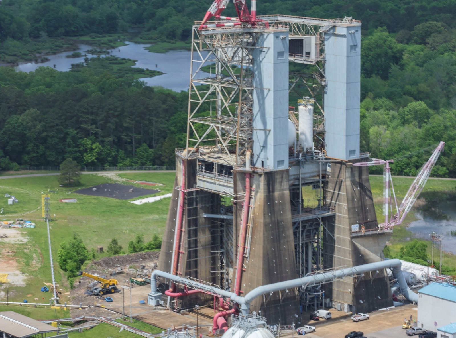 Blue Origin was granted access to Test Stand 4670 at NASA's Marshall Space Flight Center. Photo Credit: NASA