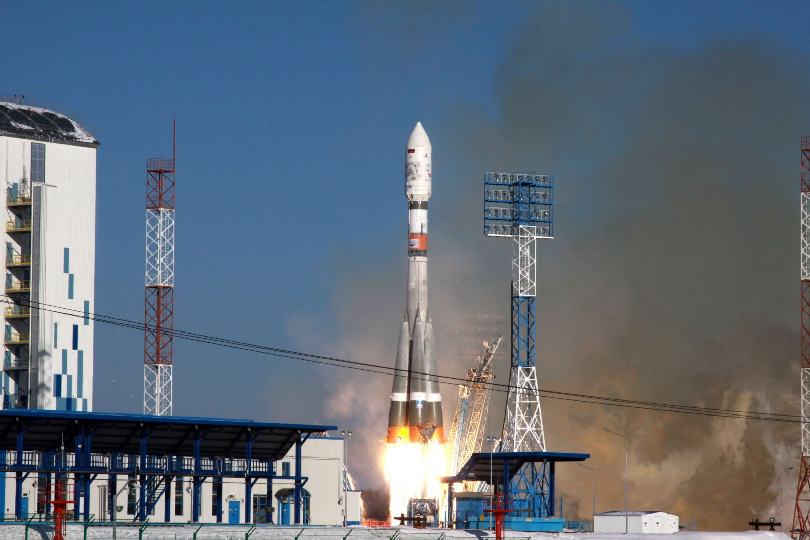 Archive photo of Soyuz 2 launch from the Vostochny Cosmodrone. Photo Credit: Roscosmos