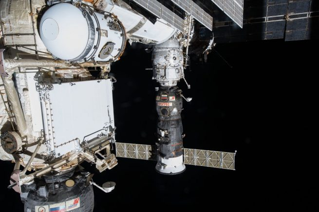Progress spacecraft docked to the International Space Station. Photo Credit: NASA