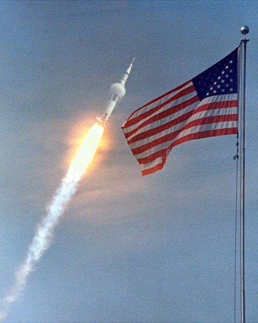 Launch of Apollo 11 atop Saturn V rocket Photo Credit NASA