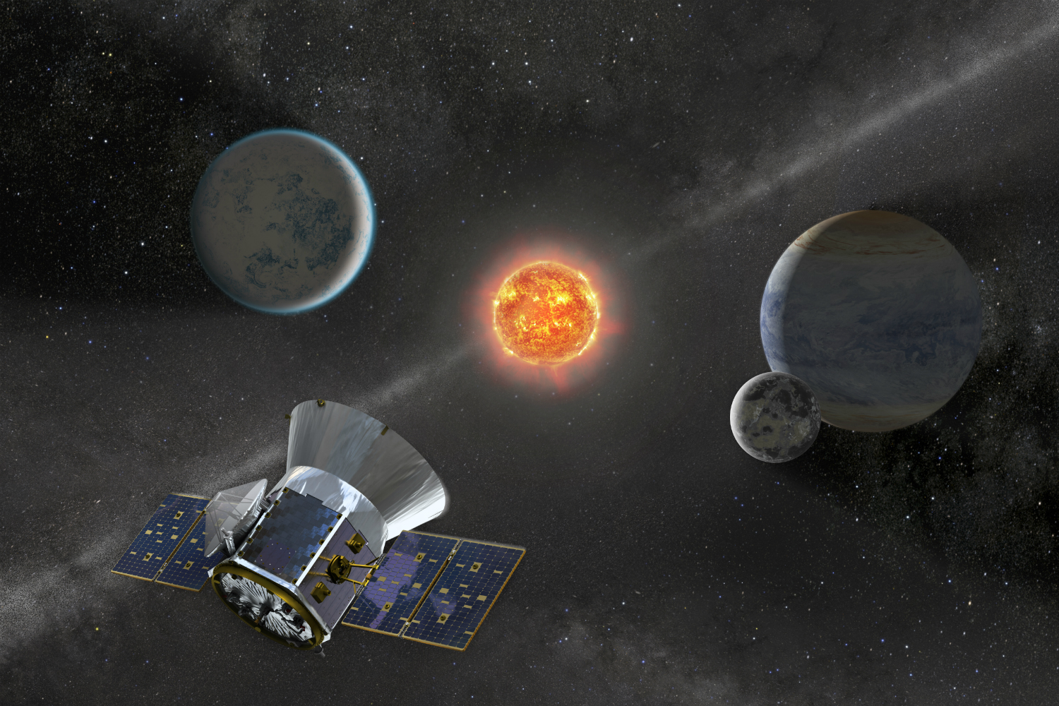 TESS has discovered the smallest exoplanet found to date. The tiny world is estimated to only be about 80 percent the size of Earth. Image Credit: NASA
