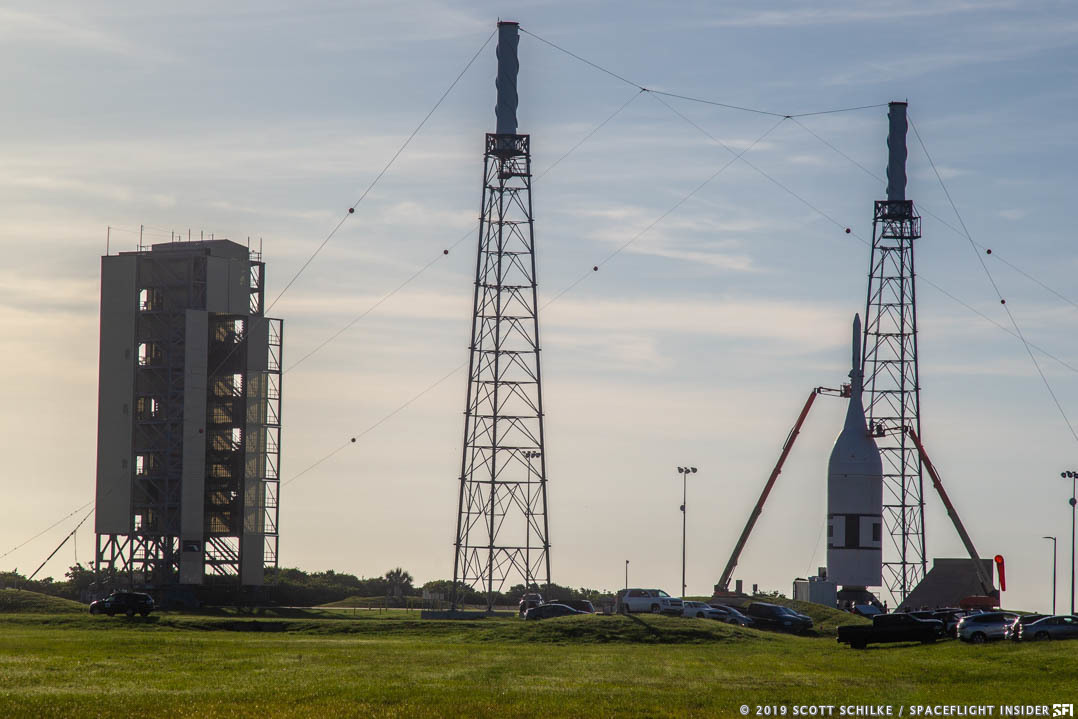 The vehicle used for this morning's test consisted of a Northrop Grumman Peacekeeper missile and a test article of the Orion spacecraft. Photo Credit: Mike Howard / SpaceFlight Insider
