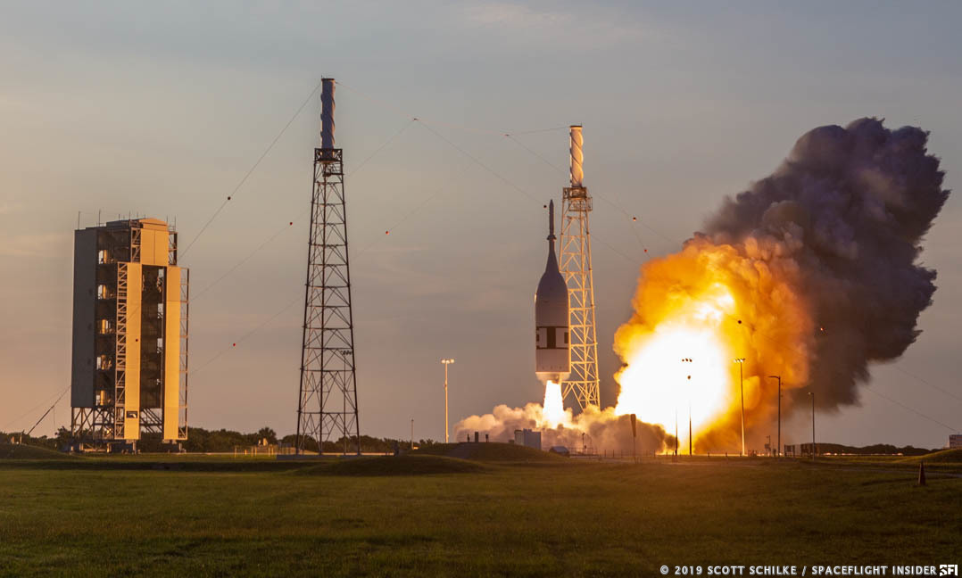 NASA and Northrop Grumman successfully completed the Ascent Abort 2 test on Tuesday, July 2, 2019 at 7 a.m. EDT (11:00 GMT). Photo Credit: Mike Howard / SpaceFlight Insider