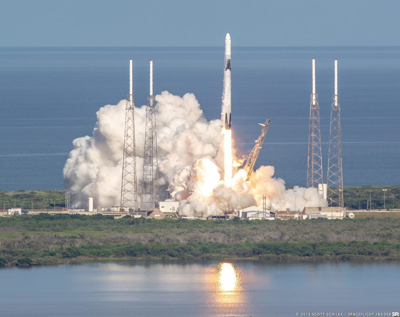 Liftoff of SpaceX's eighteenth cargo resupply mission to the International Space Station got underway at 6:01 p.m. EDT (22:01 GMT) on Thursday July 25, 2019 from Cape Canaveral Air Force Station's Space Launch Complex 40. Photo Credit: Scott Schilke / SpaceFlight Insider