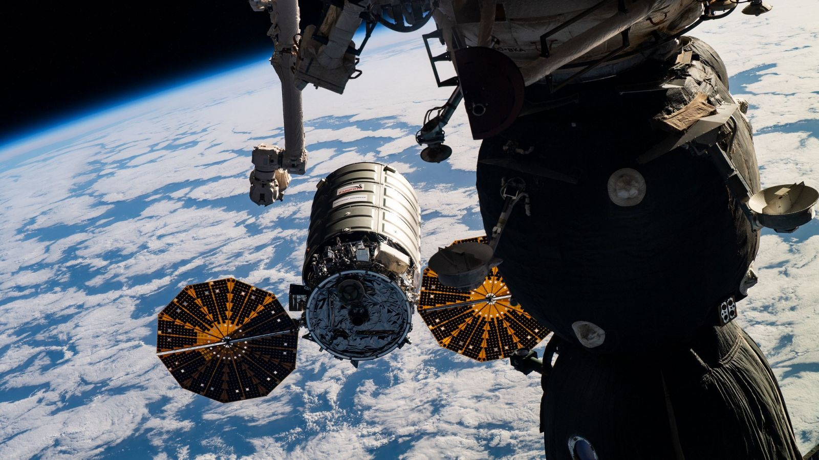 The NG-11 Cygnus spacecraft as it rendezvoused with the ISS in April 2019. Photo Credit: NASA
