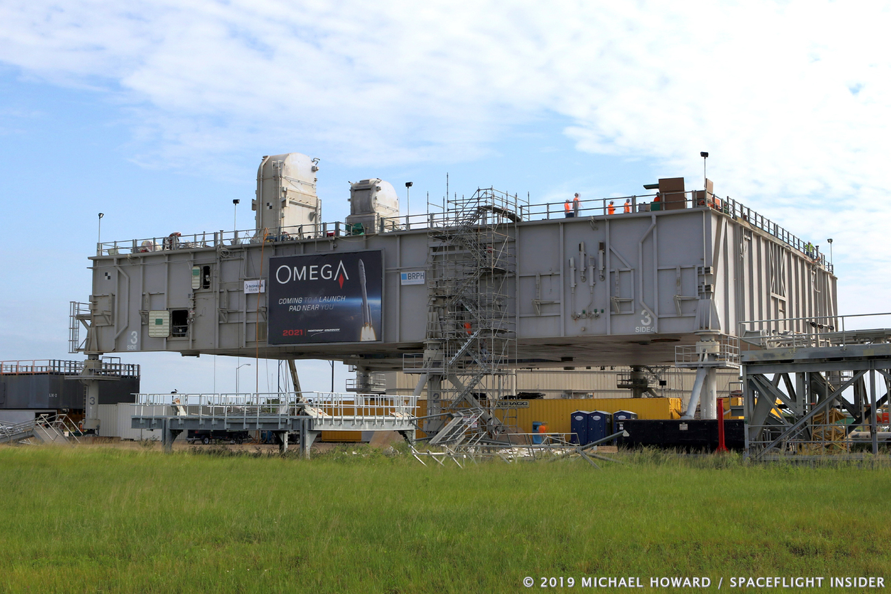 Mobile Launch Platform 3 sits outside the Vehicle Assembly Building. It, like High Bay 2, will need to be modified to support Northrop Grumman's OmegA rocket. Photo Credit: Michael Howard / SpaceFlight Insider