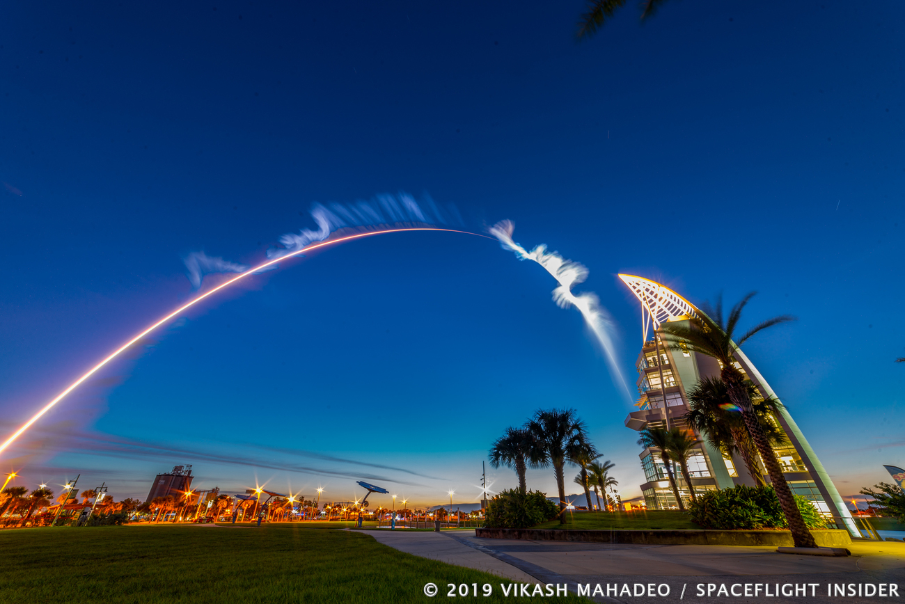A United Launch Alliance Atlas V 551 rocket lifts off from Cape Canaveral Air Force Station's Space Launch Complex 41 in Florida on Thursday, Aug. 8, 2019. Photo Credit: Vikash Mahadeo / SpaceFlight Insider