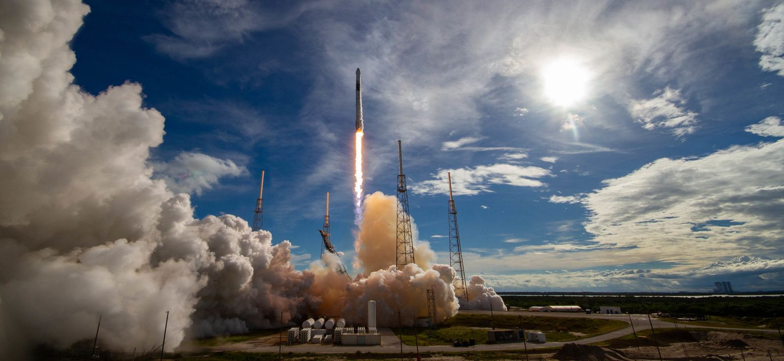 Stock photo of a SpaceX Falcon 9 rocket launching from Cape Canaveral Air Force Station's Space Launch Complex 40 in Florida. Photo Credit: SpaceX