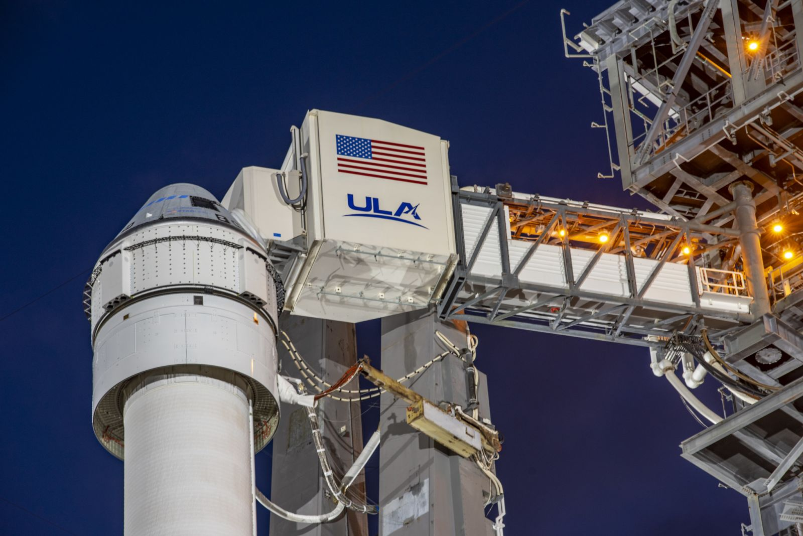 The launch vehicle adapter (LVA) that connects Starliner to the Atlas V N422 rocket can be seen in this image. Photo Credit: Boeing