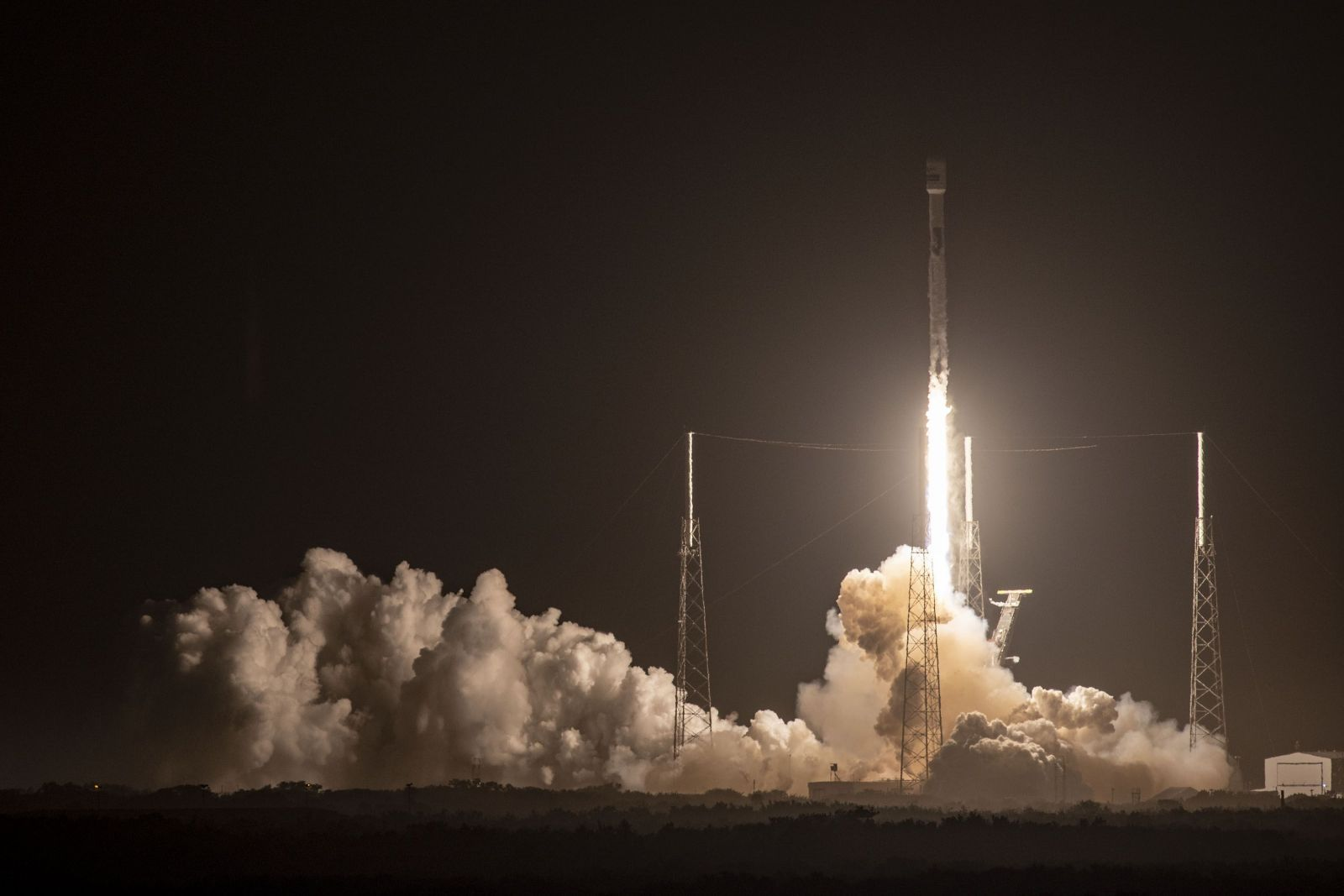 A SpaceX Falcon 9 rocket with the JCSAT-18 / Kacific-1 satellite launches from Cape Canaveral's Space Launch Complex 40 in Florida. Photo Credit: SpaceX