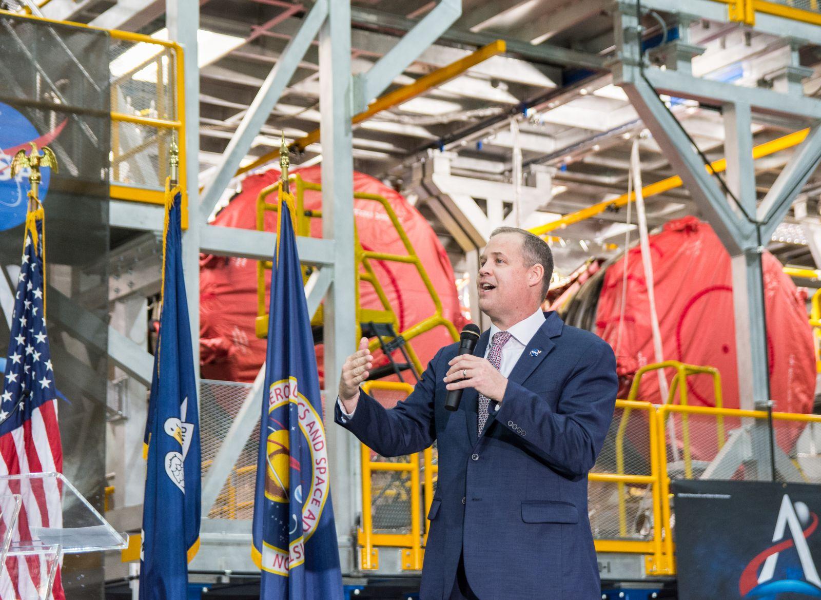 NASA Administrator Bridenstine declares SLS core stage complete