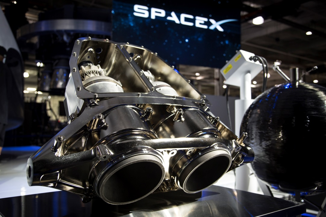 The SuperDraco is an advanced version of the Draco engines used by SpaceX's Cargo Dragon spacecraft to maneuver in orbit and during re-entry. SuperDracos will be used on Crew Dragon spacecraft as part of the vehicle's launch escape system; they will also enable propulsive landing on land.