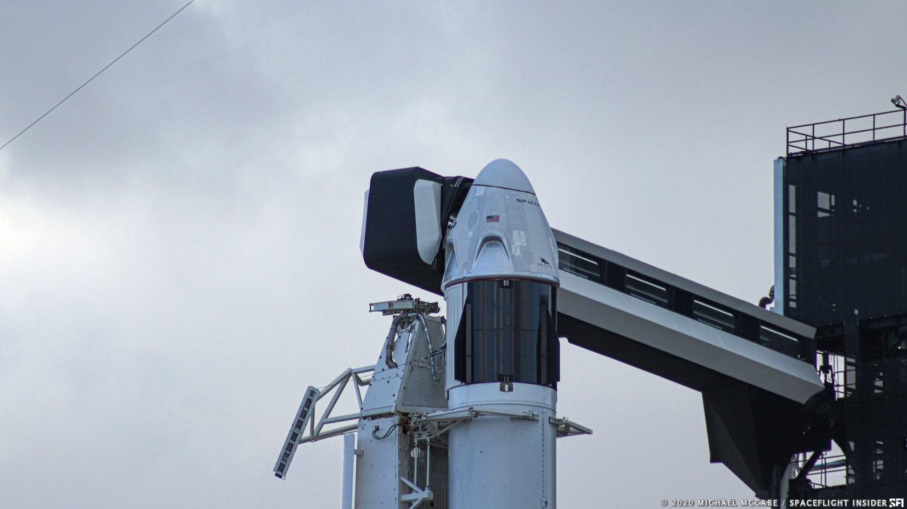 "SpaceX has opted to stand down from today's (Saturday, Jan. 18) attempt to carry out an ""in-flight abort"" test of the company's crew-rated Dragon spacecraft. Photo Credit: Michael McCabe / SpaceFlight Insider"