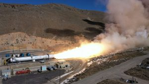 Northrop Grumman's OmegA second stage motor burned nearly 340,000 pounds of solid propellant during what appears to have been a very successful cold static fire test, February 27, 2020. Image credit: Northrop Grumman