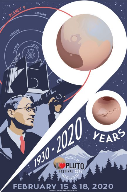 "Poster for Lowell Observatory's ""I Heart Pluto"" celebration. Image Credit: Lowell Observatory"