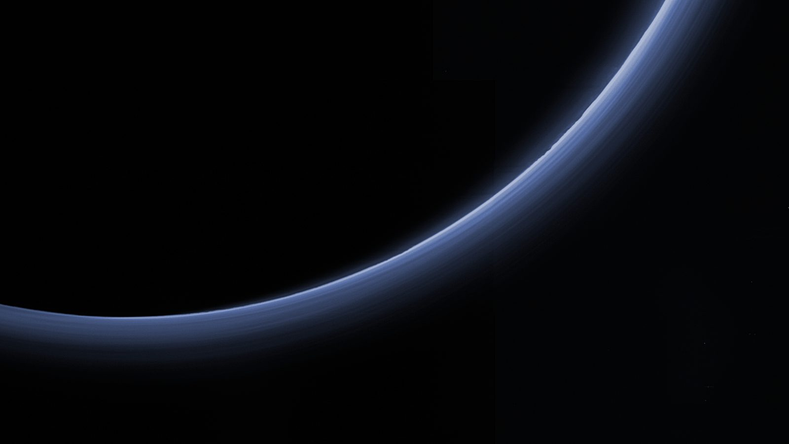 Pluto's atmospheric haze. Credit: NASA/JHUAPL/SwRI