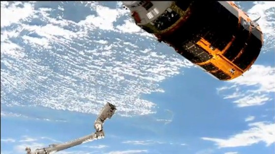 The robotic Canadarm2 releases Kounotori 9 from the International Space Station after three months at the outpost. Credit: NASA