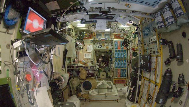 The interior of the Zvezda module in 2008. Credit: NASA