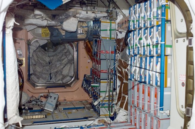 The interior of the Unity module in 2005. Credit: NASA