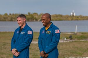 Crew-1 Mission Commander Michael Hopkins and Pilot Victor Glover