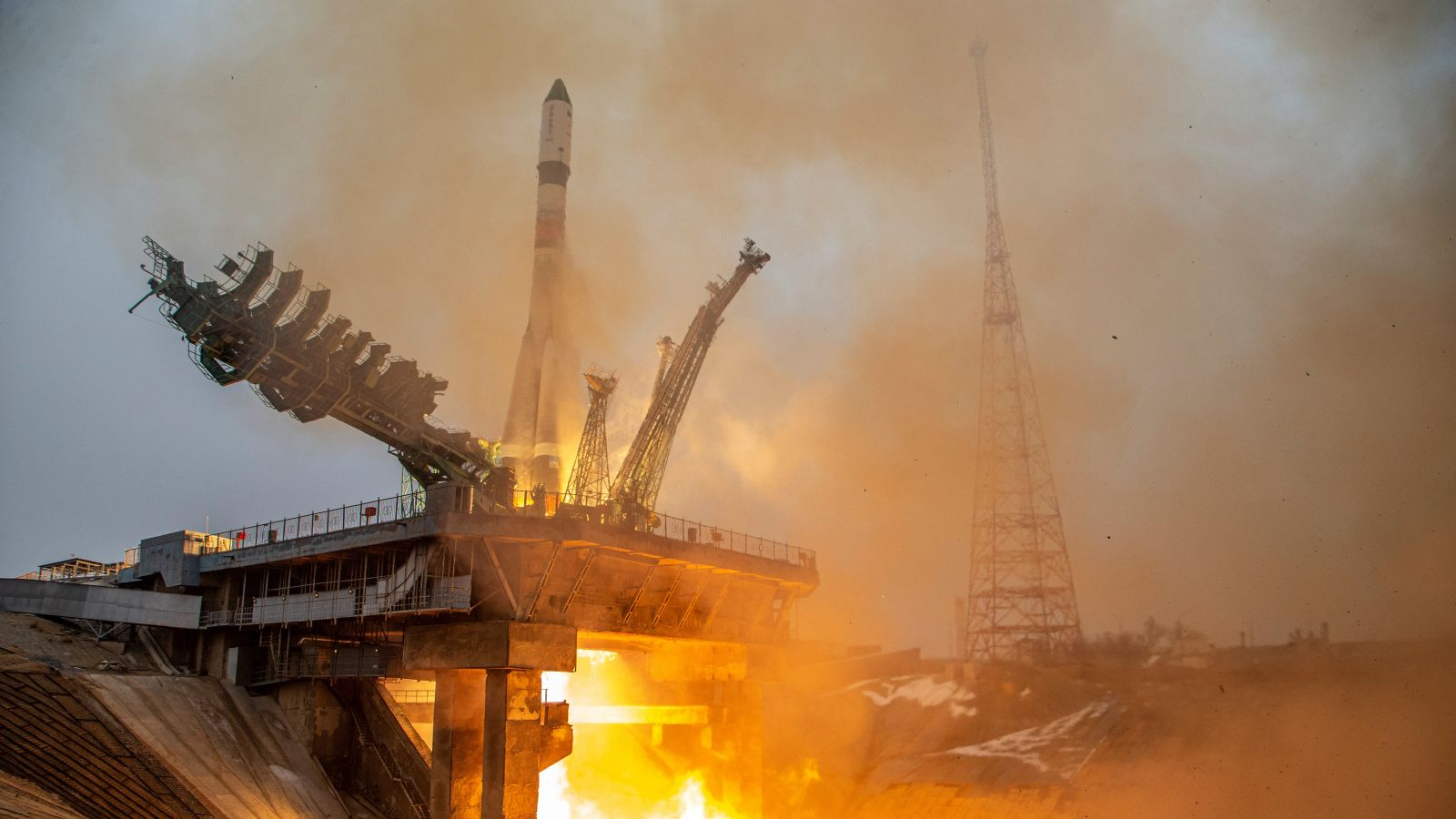 Progress MS-16 is launched atop a Soyuz 2.1a rocket from Baikonur Cosmodrome in Kazakhstan. Credit: Roscosmos