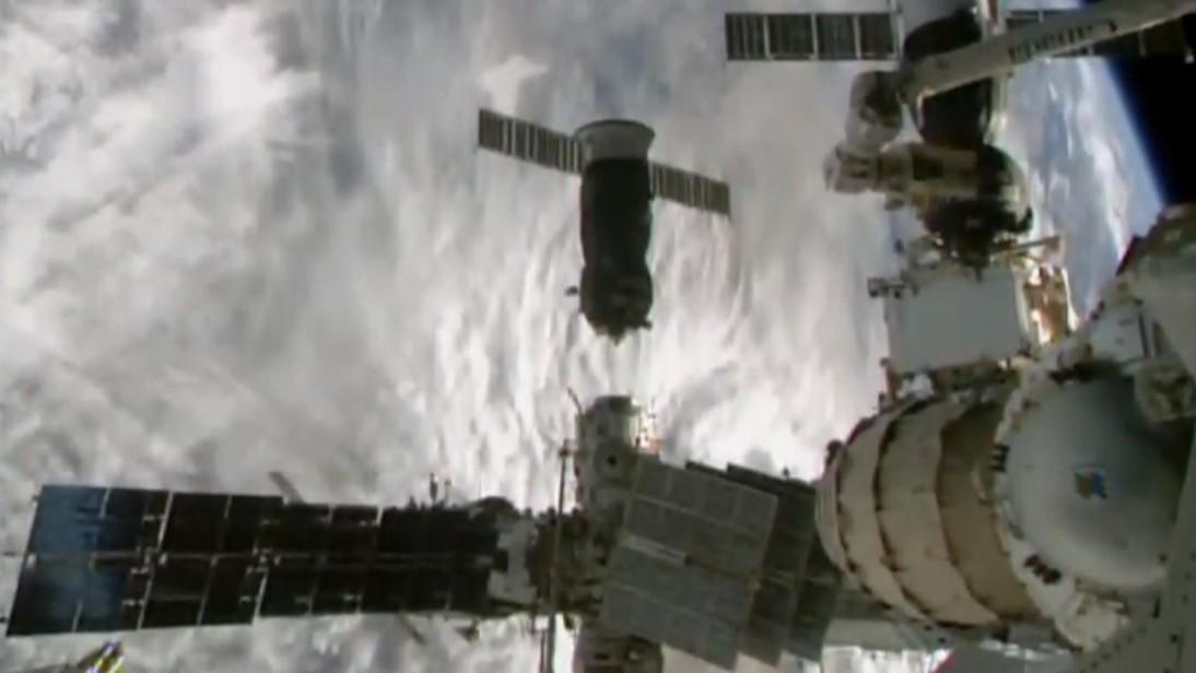 Progress MS-15 undocks from the International Space Station's Pirs module. Credit: Roscosmos