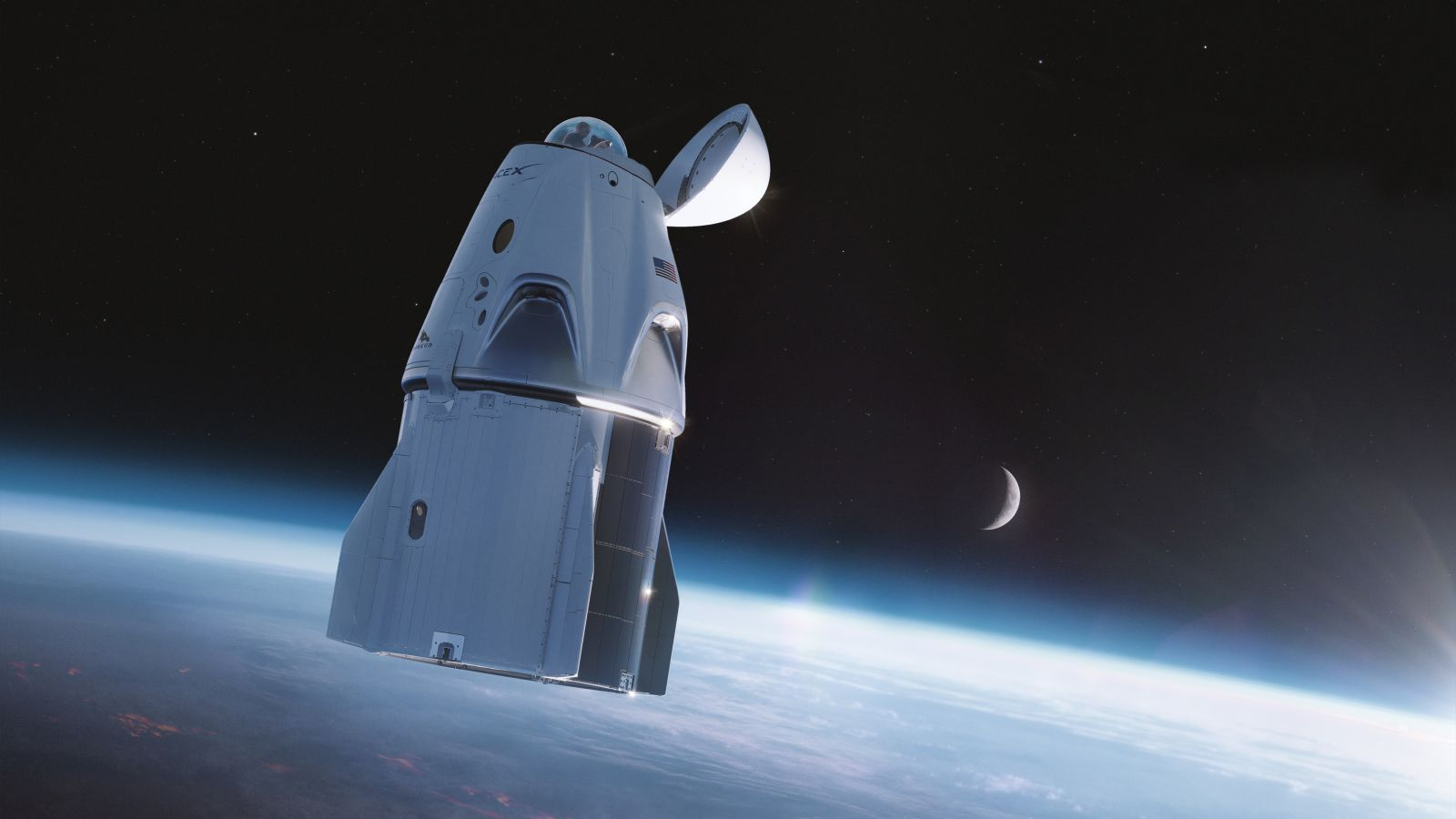 SpaceX is developing a special window to take the place of the docking port for Inspiration4. Credit: SpaceX