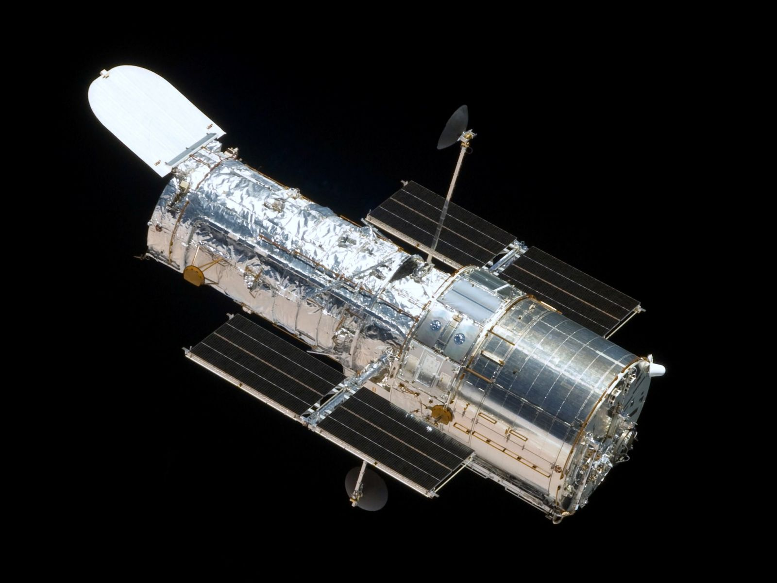 The Hubble Space Telescope, imaged during its last servicing mission in 2009. Credit: NASA
