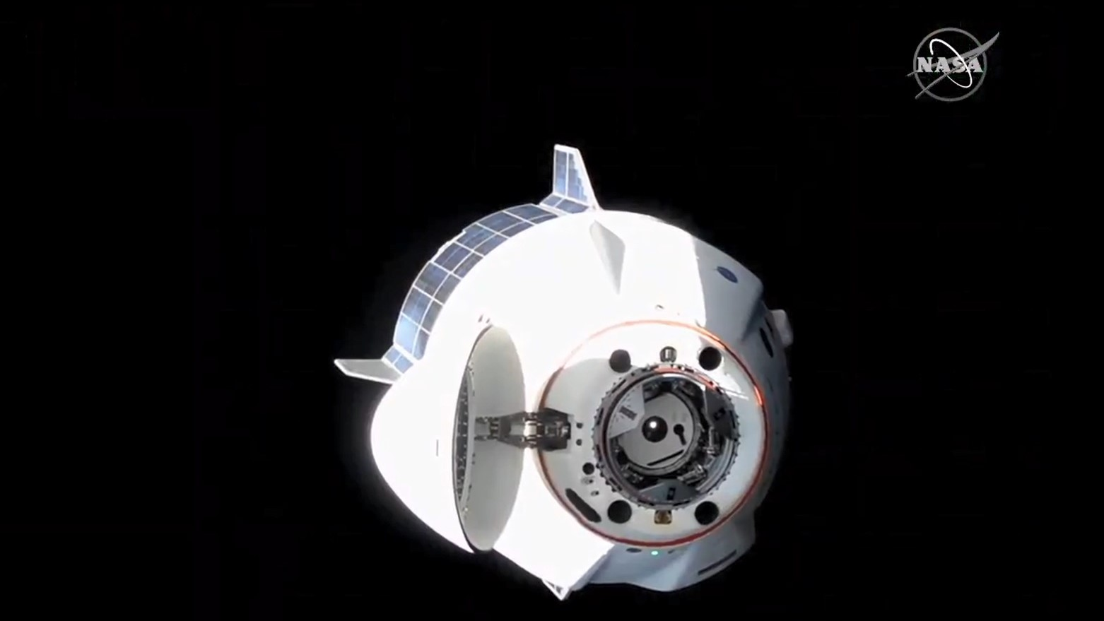 SpaceX's Crew-1 Dragon and its four-person astronaut crew relocated from the forward docking port on the Harmony module to the space-facing port in an effort to prepare for the arrival of Crew-2 and CRS-22 in the coming weeks and months. Credit: NASA