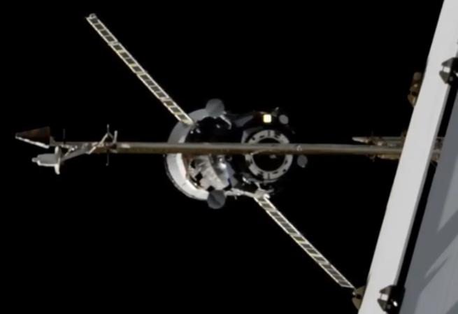 Вид на продвижение MS-14 по прибытии на Международную космическую станцию в апреле 2020 года. Фото: НАСА