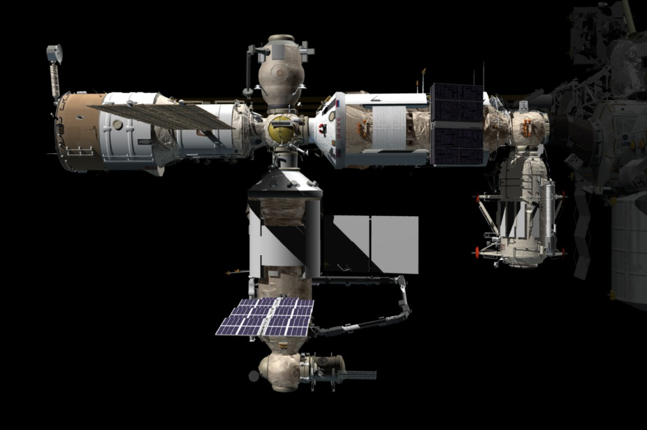 The configuration of the Russian segment of the International Space Station once Nauka is attached. Credit: NASA