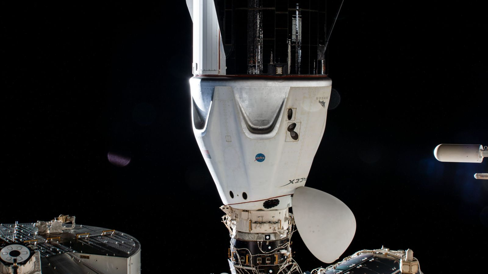 Crew Dragon Resilience docked at the space-facing port of the Harmony module. Credit: NASA
