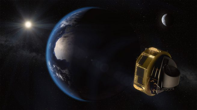 Artist's depiction of ESA's ARIEL space telescope, which is being designed to study the formation of exoplanets. Credit: ESA/STFC RAL Space/UCL/Europlanet-Science Office