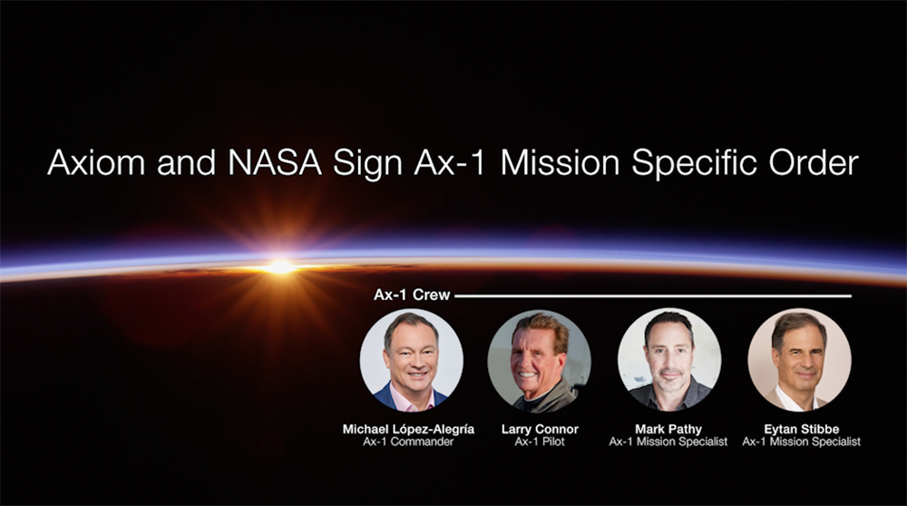 The Axiom Mission 1 crew. Credit: Axiom Space