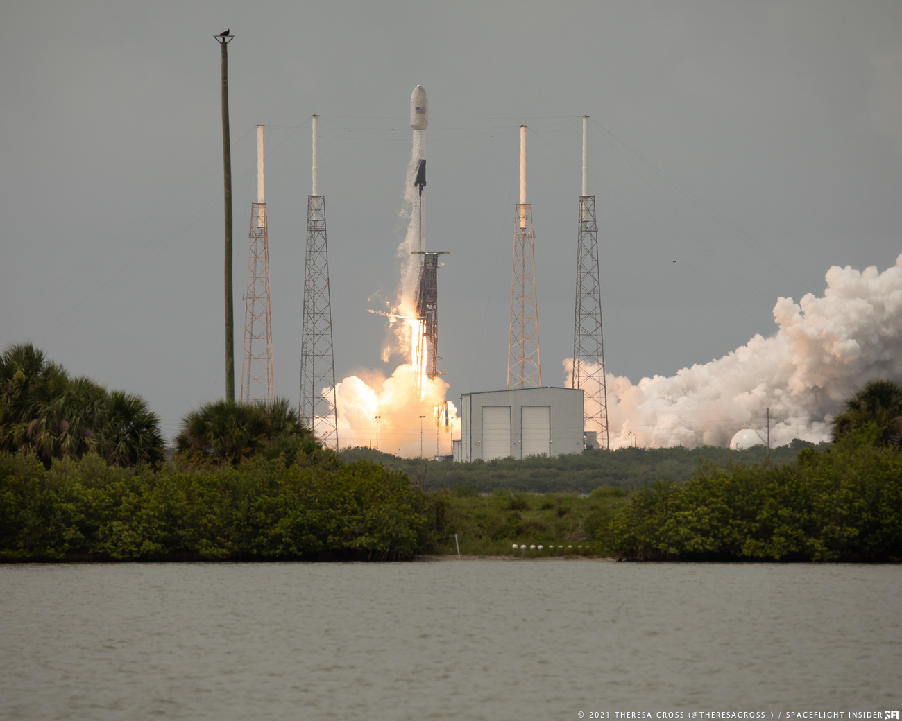 SpaceX's Falcon 9 rocket launches the Transporter-2 rideshare mission. Credit: Theresa Cross / Spaceflight Insider