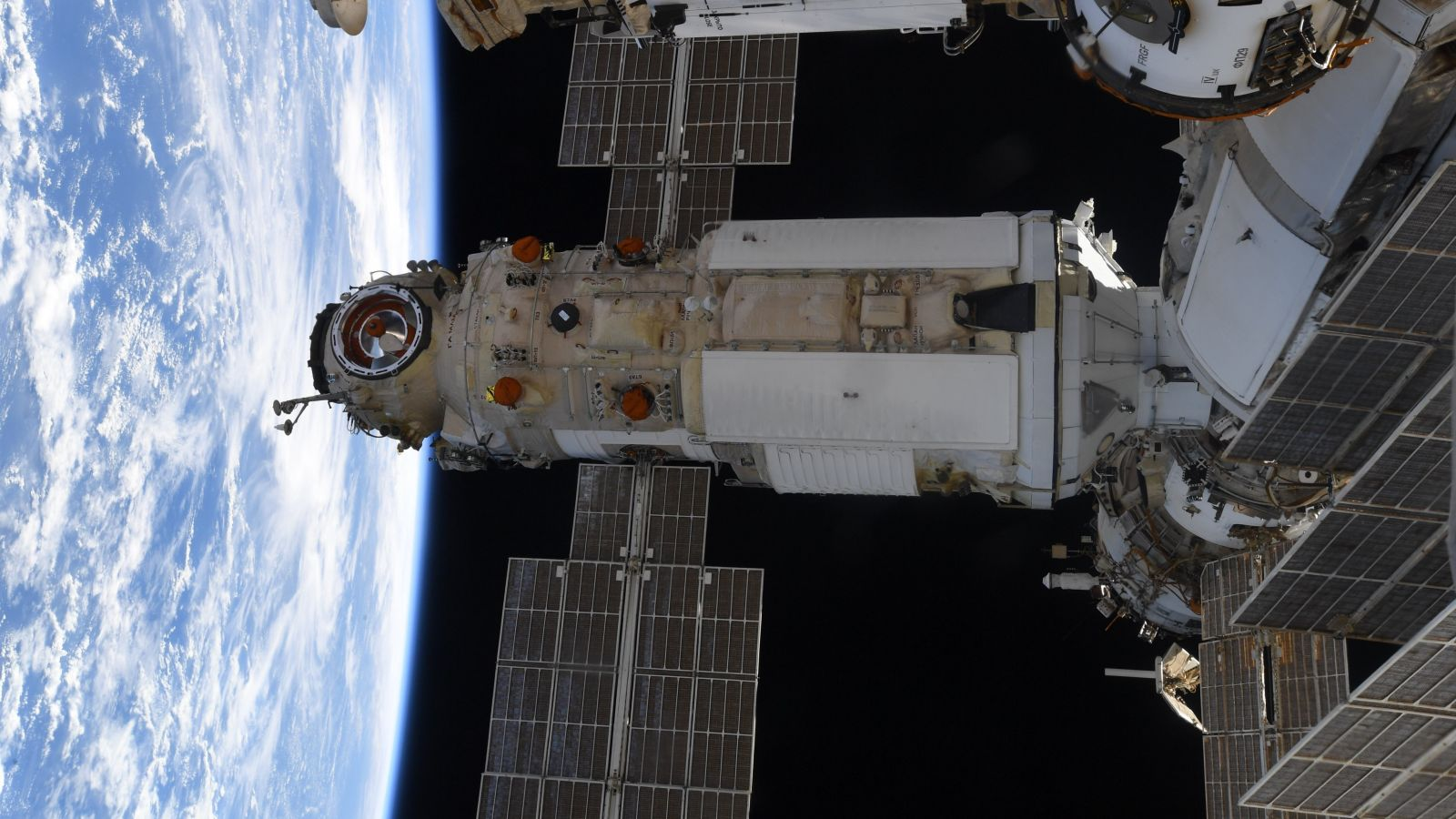 Nauka as seen from the Cupola module on the U.S. side of the ISS. Credit: NASA