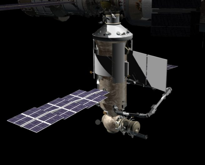 A rendering of the Nauka science module attached to the International Space Station. Credit: NASA